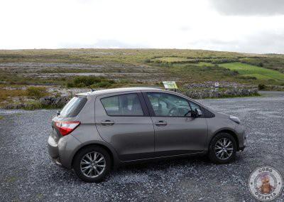 Nuestro coche en la zona de the Burren