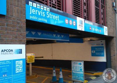 Parking en Jervish Street cerca del hotel