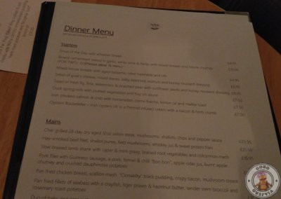 Carta del restaurante Tartine Restaurant at The Distillers Arms