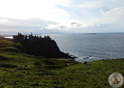 Dunluce Castle visto desde la carretera