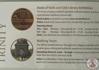 Precios y horarios Trinity College