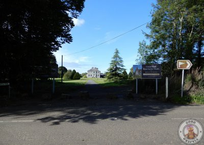 Entrada desde el campo de golf de Gracehill House