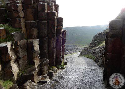 Camino entre la columnas