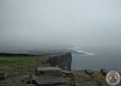 La lluvia nos impidió disfrutar de la gran vista de los acantilados de Inishmore