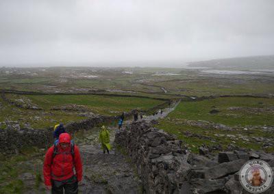 Subida hasta el fuerte prehistórico Dun Aengus