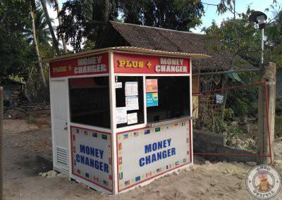 Casa de cambio en Port Barton