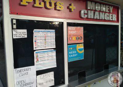 Información de la casa de cambio en Port Barton