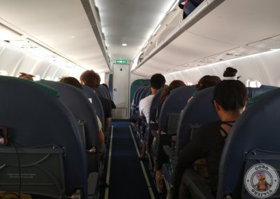 Interior de un avión Cebu Pacific