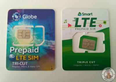 Internet en Filipinas. Tarjetas de Globe y Smart