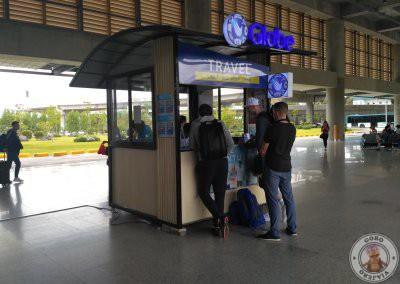 Mostrador GLOBE en el Aeropuerto de Cebú