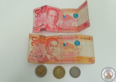 Cambio de moneda en Filipinas y pago con tarjeta de crédito - Pesos filipinos