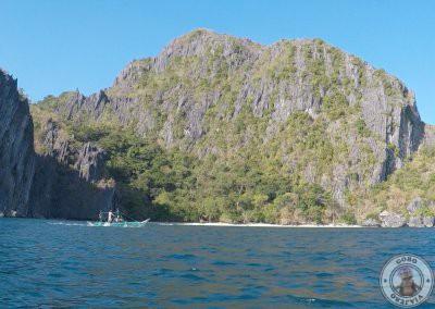 Playa privada por la que pasamos con el kayak