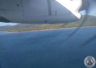 Vistas desde el avión de AirSWIFT
