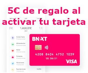 5 € de regalo al activar tu tarjeta