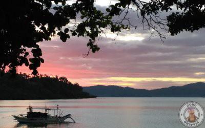 Atardecer en Port Barton, el mejor atardecer en Filipinas