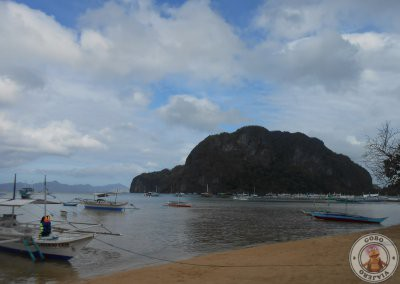 Punto de incio de nuestro recorrido en kayak desde Corong Corong hasta Seven Commandos Beach