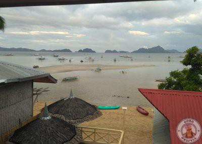 Vistas desde el Ambiance Place a la playa de Corong Corong nuestro alojamiento en El Nido