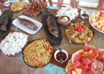 Comida del Island hopping en Siargao con MySiargaoGuide