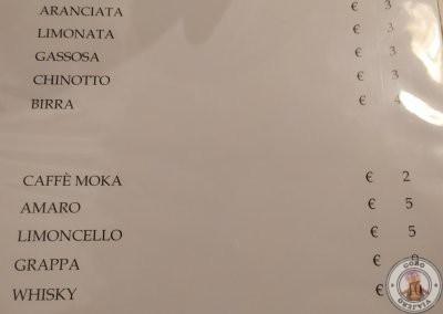 Carta de bebidas - Osteria Da Fortunata