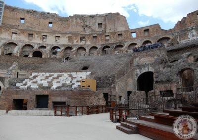 Pisando la arena del Coliseo