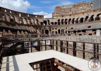 Trampilla por donde salían los animales en las batallas de gladiadores