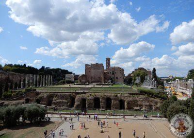 Vistas del Foro Romano y del Palatino desde el Coliseo