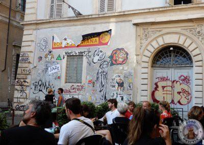 Terraza del Bar San Calisto en Trastevere