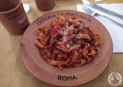 Fettuccine amatriciana - Osteria Da Fortunata