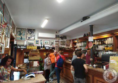 Interior del Bar San Calisto en Trastevere
