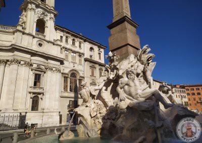 Plaza Navona -Fuente de los cuatro ríos