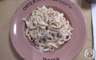 Cena en Osteria Da Fortunata en Roma