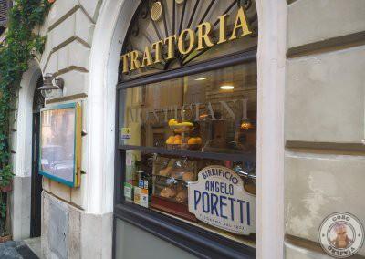 Trattoria Monticiani, donde desayunábamos a diario en el Barrio de Monti