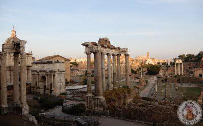 Atardecer en el mirador del Foro Romano
