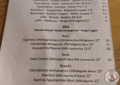 Carta de bebidas en Fehu