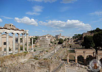 Foro Romano desde el mirador de la Plaza Campidoglio