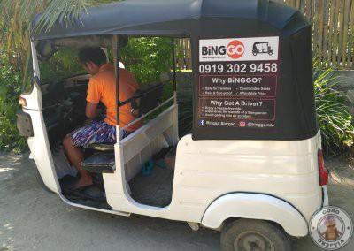 Alquiler de tuk tuk en Siargao con Binggo Siargao