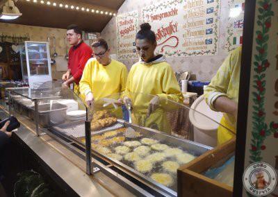 Pancake de patata en el mercado de Rathausplatz