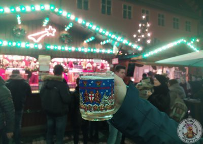 Vino caliente en el Mercado de Rathausplatz