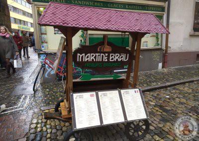 La cervecería Martin's Bräu ofrece la carta en varios idiomas incluido el español