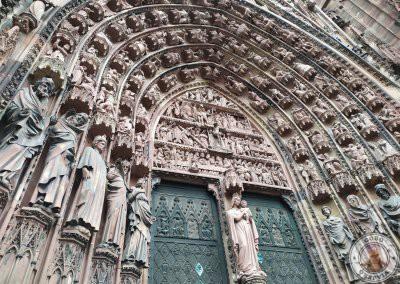 Detalle de la fachada de la caedral