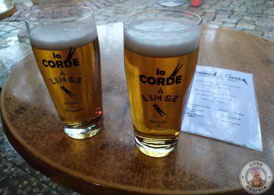 Cervezas en la terraza de a Corde a Linge