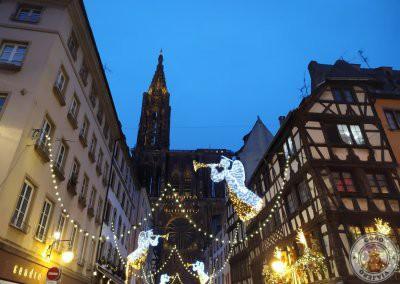 Rue Mercière por la noche