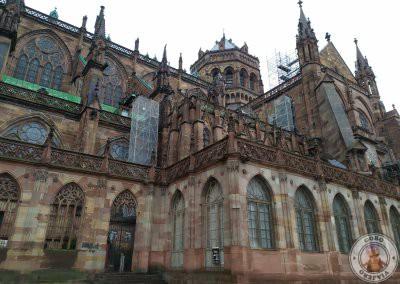Lateral de la Catedral de Estrasburgo