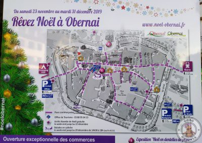 Mapa de Obernai