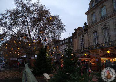 Mercado de navidad de la terraza del Palais Rohan