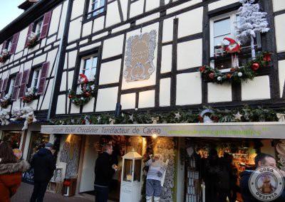 Nada más llegar a Obernai nos encontramos estas fachadas