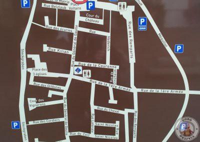 Plano con los parkings señalizados