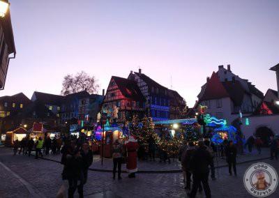 Colmar en Navidad recorrido por la noche -Mercado de la Petite Venise