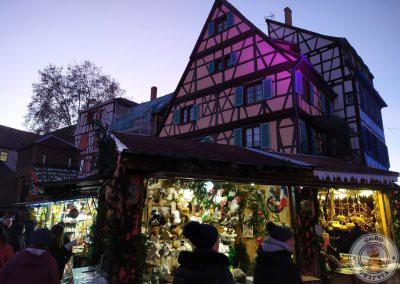 Colmar en Navidad recorrido por la noche - Mercado de la Petite Venise