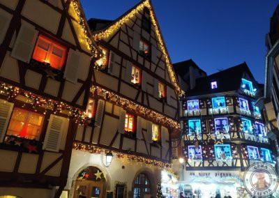 Colmar en Navidad recorrido por la noche -Rue des Marchands